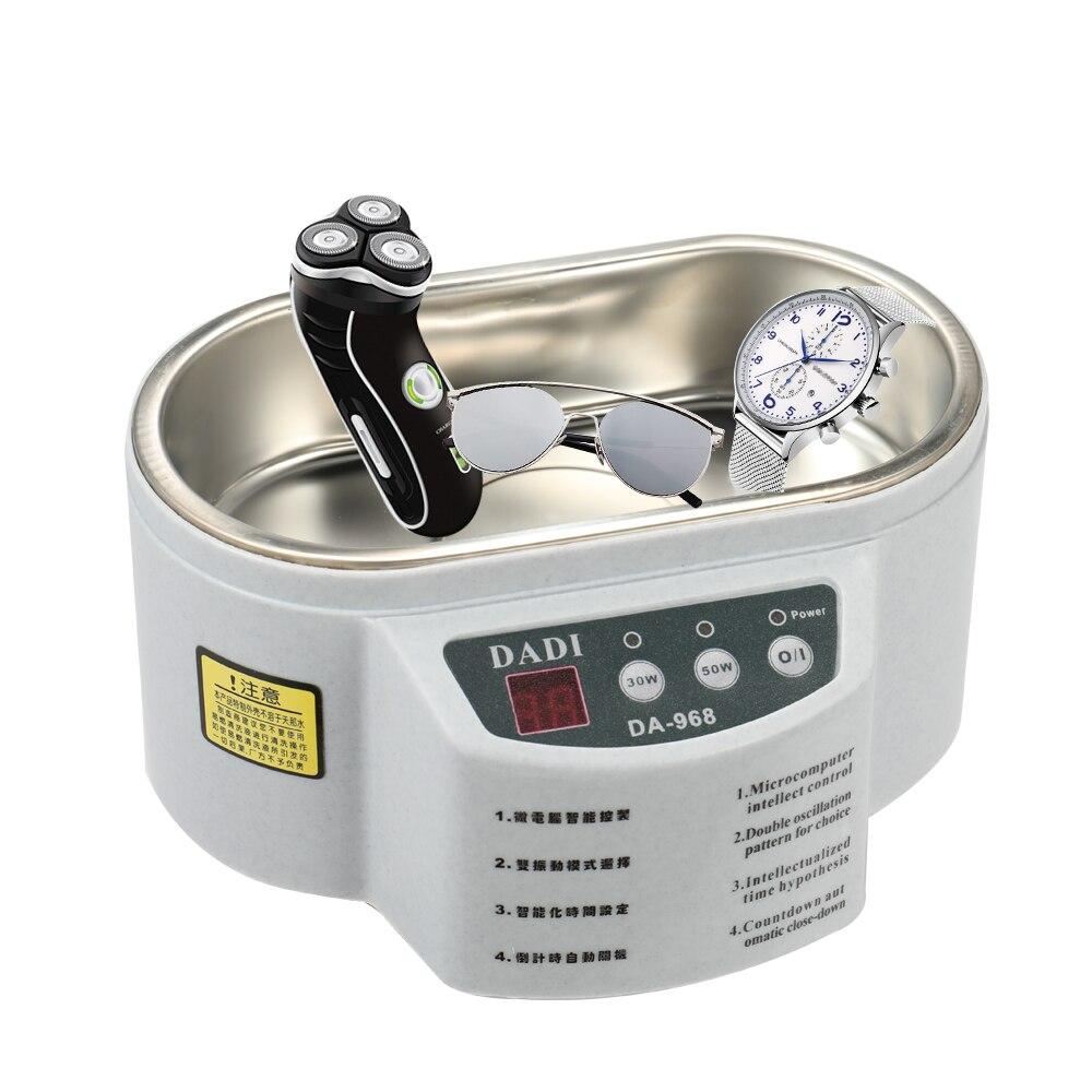 Digital Ultrasonic Cleaner Household Intelligent Jewelry Glasses Circuit Board Cleaning Machine 600ML Ultrasonic Cleaner Bath