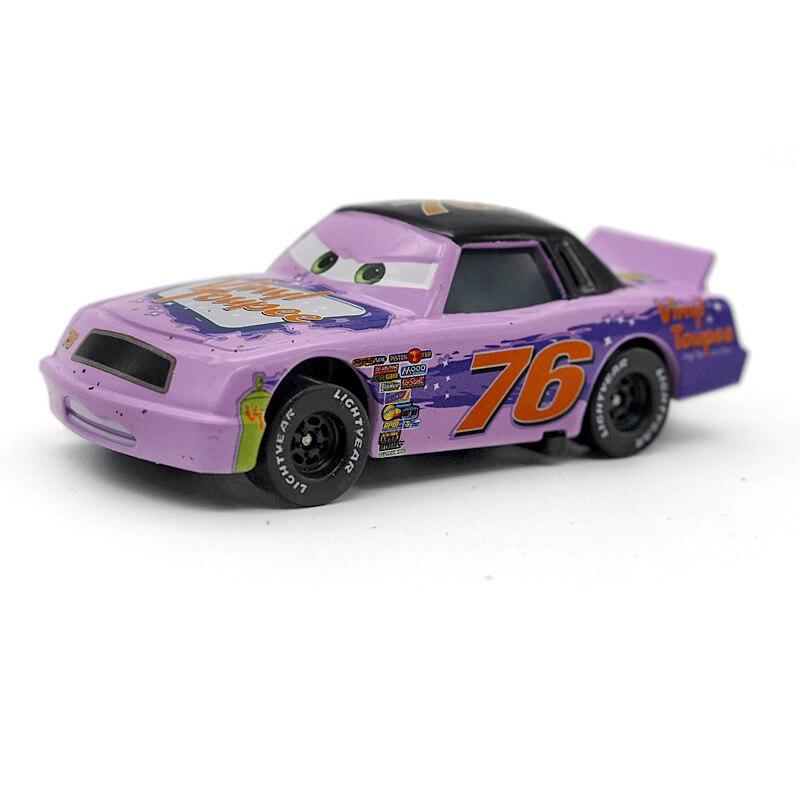 все цены на Disney Pixar Cars 2 3 No.76 Vinyl Toupee Metal Diecast alloy Toy Car model for children gift 1:55 Brand toys New In Stock онлайн
