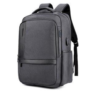 Image 5 - ARCTIC HUNTER 15.6 inç su geçirmez USB profesyonel Laptop erkek sırt çantası rahat dizüstü erkek spor seyahat çantası erkekler için