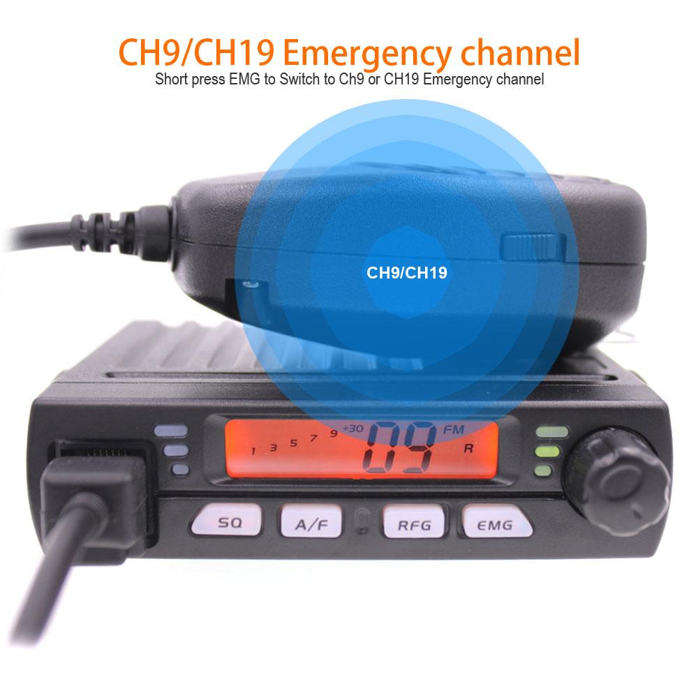 New ANYSECU Mini Mobie Radio CB-40M 25.615-30.105MHz 10M Amateur 8W AM/FM Citizen Band CB Radio AR-925