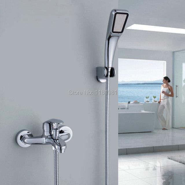 Newly Chromed Polished Bathroom Basin Faucet Bath Tub Mixer Tap With ...