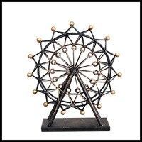 ElimElim Retro Metal Decoration Furniture Decorative Ferris Wheel Gift Graft For Women Vintage Home Decor