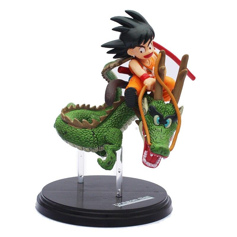 Anime Dragon Ball PVC Action Figurleksaker SaiYan Son Goku och ShenLong Juguetes Anime marionetter Figurer Leksaker för barn