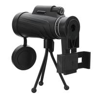 40 × 60 hdズームレンズキャンプ旅行防水単眼望遠鏡+三脚+クリップ用サムスンのためのiphone xiaomi huawei