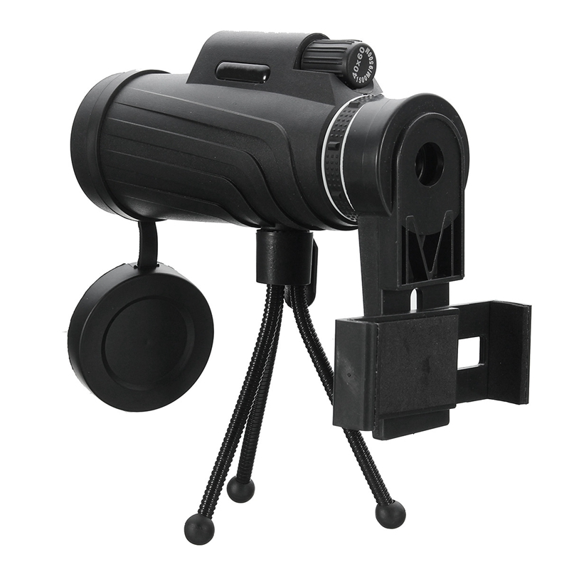 40X60 HD Zoom Lens Camping Travel Waterproof Monocular Telescope + Tripod + Clip for Samsung for iPhone Xiaomi Huawei