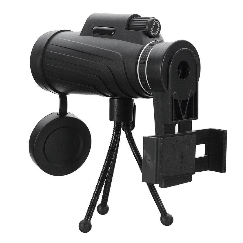 40X60 HD Zoom Objectif Camping Voyage Monoculaire Étanche Télescope + Trépied + Clip pour Samsung pour iPhone Xiaomi huawei