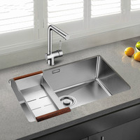 Free Shipping Standard Individuality Kitchen Manual Sink Single Trough Durable Food Grade 304 Stainless Steel Hot