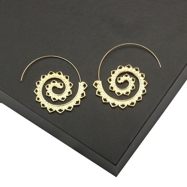 Ufavoirte Fashion Bijoux 9 Earring Hoop Round Indian Tribal Ethnic Earrings Boho Drop Earrings For Women love Jewelry Wholesale 5