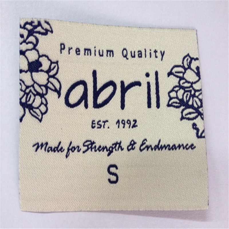 Factory Price Customized Garment Label High Density Woven