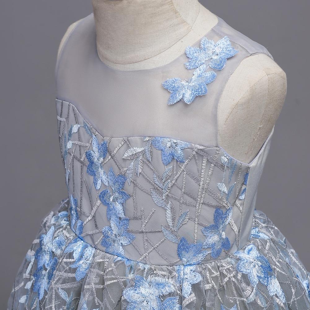 Boutique longue robe de princesse 5-16 ans fille robe de soirée première Communion décorations de fête élégante fleur fille robe de mariée - 6