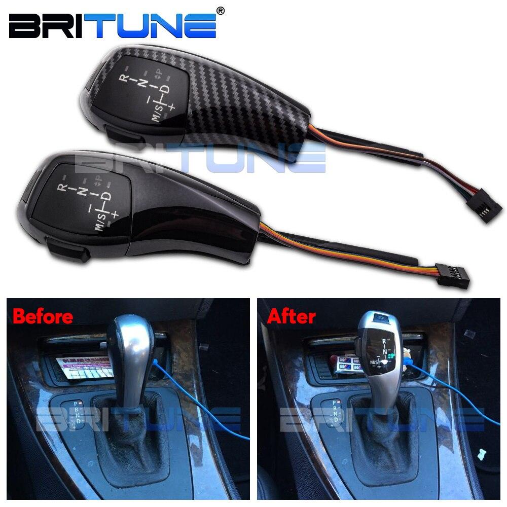 Auto Voiture LED Pommeau de levier Sélecteur Levier Pour BMW 1 3 5 6 Série E90 E60 E46 4D E39 E53 E87 E92 E93 E83 X3 E64 Retrofit