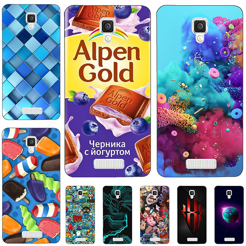 Scenery Phone Cases For Alcatel One Touch Pixi 4 3G Version OT 5010 5010D Soft Tpu Back Cover For Alcatel 5010d pixi 4 Funda 5 image