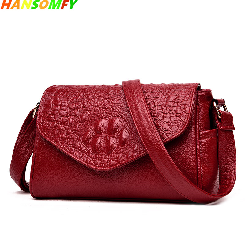 2018 new women Leather handbag luxury fashion shoulder bag crocodile pattern cowhide middle-aged mother and lady Messenger bags paula mcgee advanced practice in nursing and the allied health professions