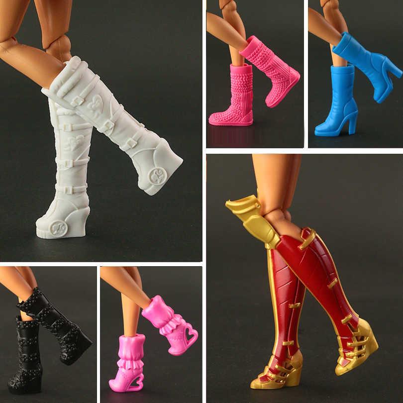 2020 yeni yüksek topuklu çizmeler ayakkabı barbie bebek tasarımları Vary renkli bebek aksesuarları 15 stil mevcut