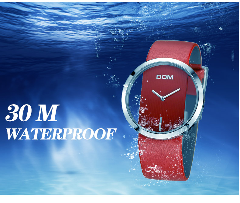 ladies casual leather watch - waterproof