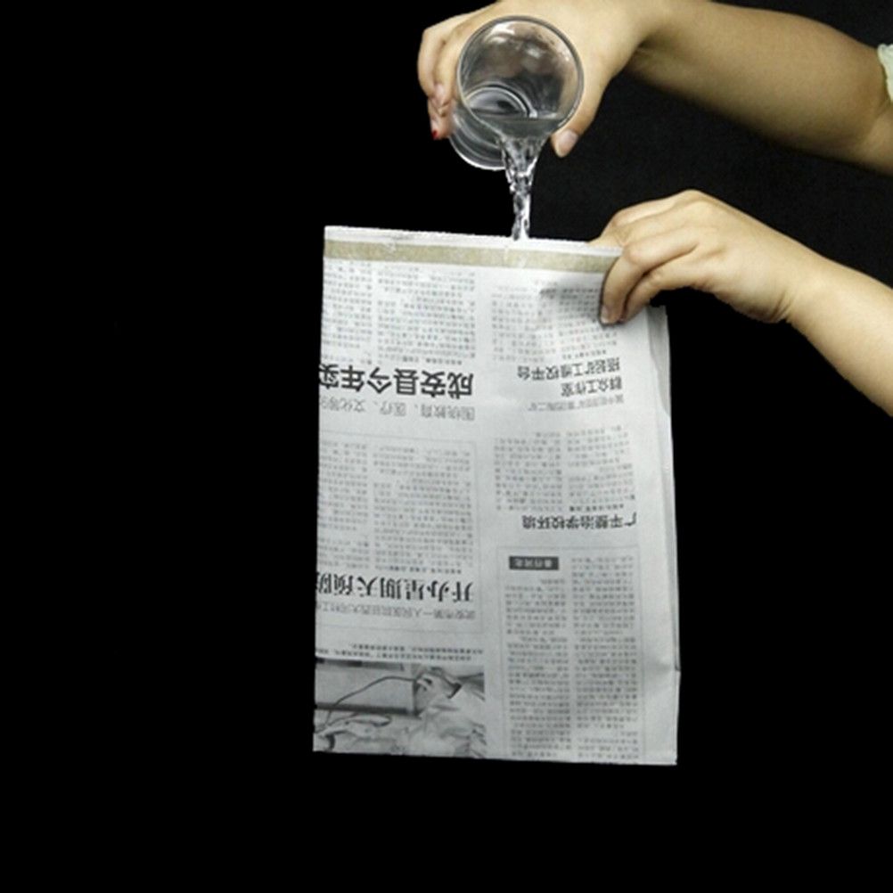 Gag Toys Drink Water Newspaper Close-Up Newspapers Hidden Water Magic Tricks Props Funny Novelty Halloween Party Classic Toys(China)