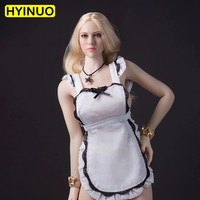 1/6 Scale Cosplay Women Sexy Maid Apron Female Maid Clothes Socks Clothes Clothing Set For 12 Action Figure Female Body