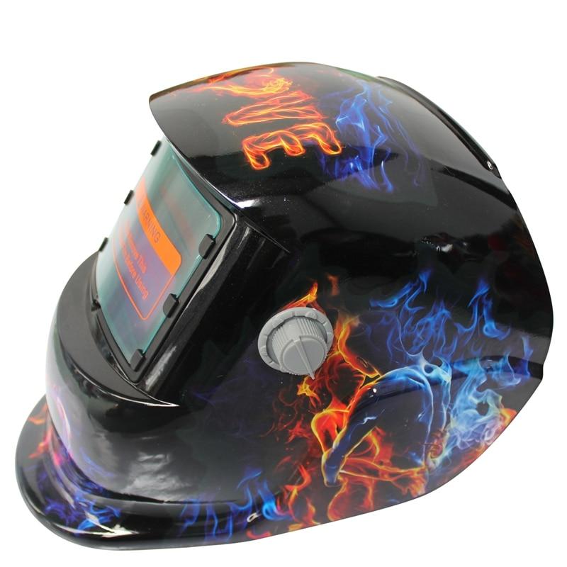 Bmby-2018 Neue Pro Solar Schweißer Maske Auto-verdunkelung Schweiß Helm Muster Flamme Liebe Ausgezeichnete (In) QualitäT