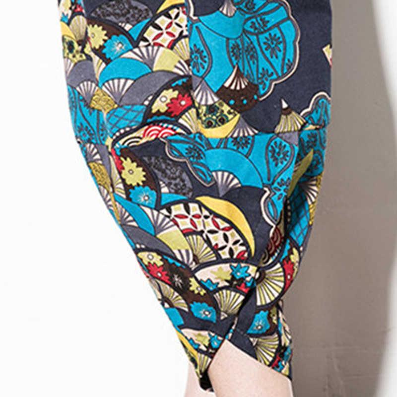 男性の夏の快適なルースビーチパンツ 2019 新ブランド男性と女性が着用高品質コットンリネン花パンツ
