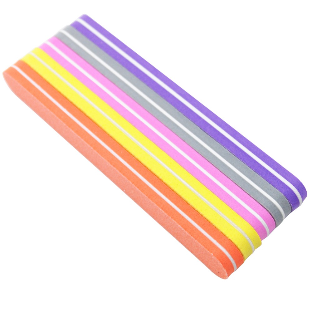 купить 5Pcs/lot Mix Color Sunshine Nail File Straight 100/180 Nail Buffer Files Washable Manicure Nail Art Tools For Acrylic UV Gel по цене 131.24 рублей