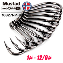Mustad Norway Origin Fishing Hook Super Power Big Size Circle Fish Hooks,1#-12/0#,10827NP-BN