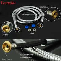 Vestudio 2.0 M 1.5 M tuyaux de douche flexibles en acier inoxydable accessoires de salle de bain pour pulvérisateur de Bidet de toilette Double serrure EPDM gratuit