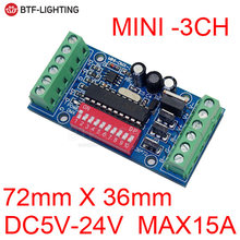 3CH-27CH LED dmx512 Placa de Controlador LED DMX512 decodificador para tira de luz Led(China)