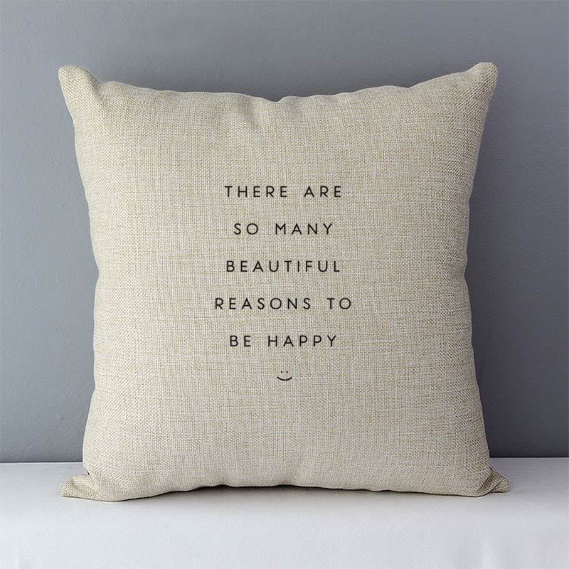 Nordic Simply Style Words Letters Printed Cushion Cover Home Decorative Pillow Cover 45x45cm Cotton Linen Couch Pillowcase QX-D5