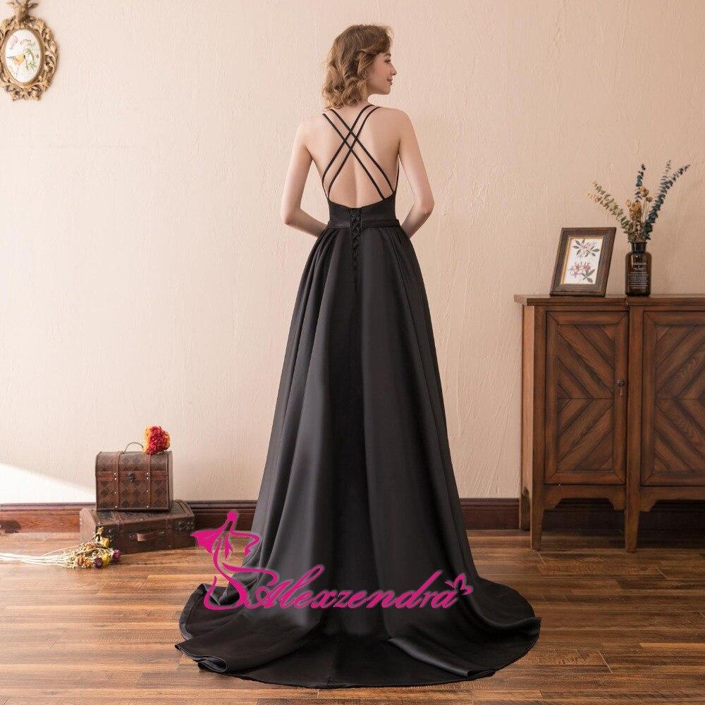 Alexzendra Stock Dress V պարանոցի երկար շարքով - Հատուկ առիթի զգեստներ - Լուսանկար 4