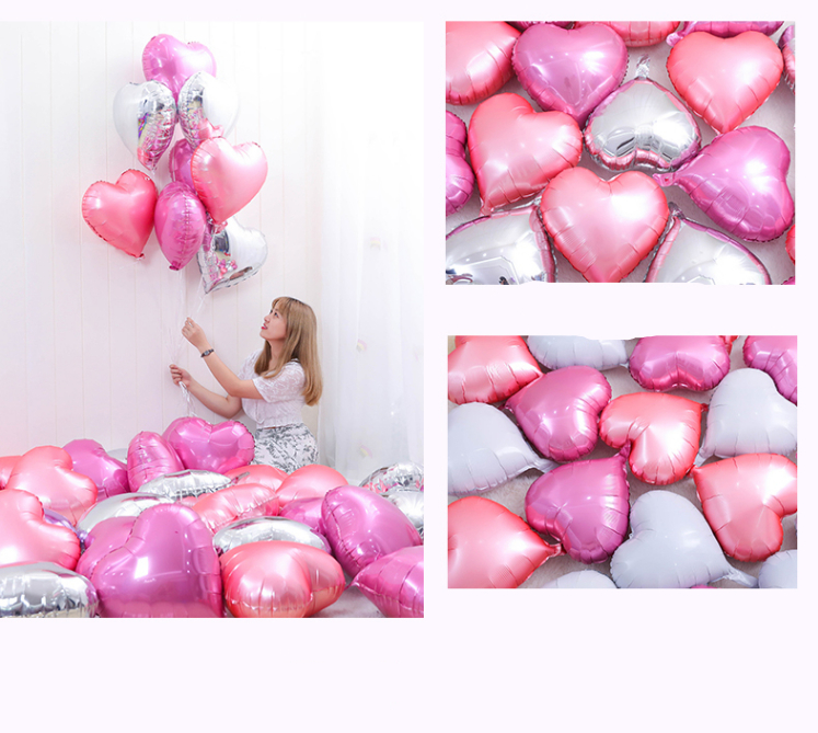 10pcs10 Inch Heart Love Balloons Inflatable Foil Balloon Wedding Valentine Day Decorations Helium Balloon Globos Birthday Party