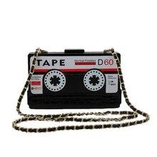 Persönlichkeit transparent band kassetten abend-handtasche acryl hartbox kupplung high-end handtasche kleine party geldbörse handtaschen