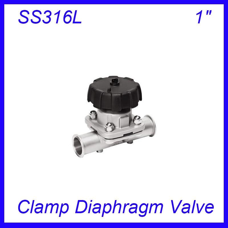 1 SS316L EPDM Clamp diaphragm valve sanitary sterile food grade f Wine, milk, beverages