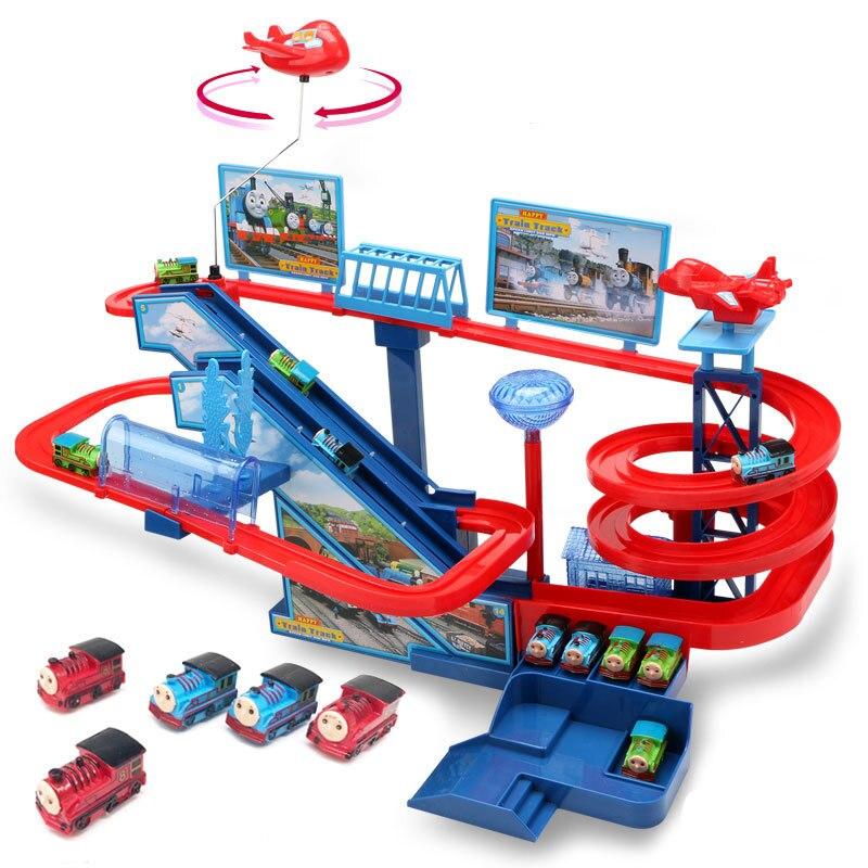 Thomas et ses amis Diecasts véhicules petit train set piste voiture sonnant électrique jouet toboggan enfant jouet garçon cadeau jouet pour enfants