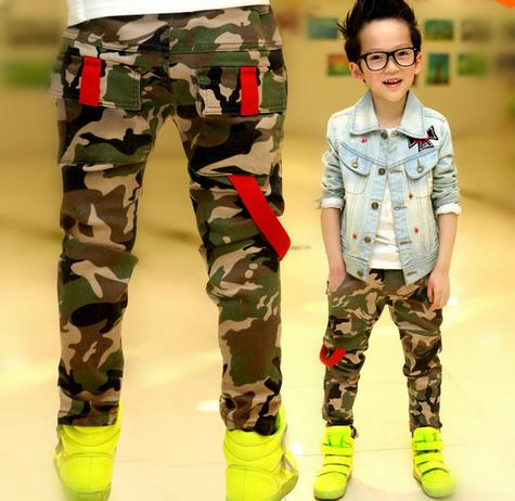 2015 hot Autumn Teens Jeans For Boy Camouflage Baby Boys Jeans Pants Designer Kids Jean Children's Elastic Waist Denim Long Pant