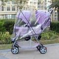 Carrinho de criança gêmeo coverStrollers passeio de carruagem de bebê em torno de capa de chuva capa de chuva capa de chuva
