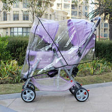 Twin stroller rain coverStrollers baby carriage ride around raincoat rain cover