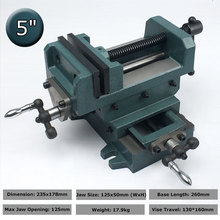 5 Inch Manual Bench Vise con barra Vertical X Y Direction Horizontal Carbon Steel Angle Mechanical Working Table Tools стоимость