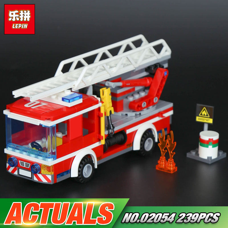 Lepin 02054 Genuine City Series 239Pcs The Fire Ladder Truck Set 60107 Building Blocks Bricks Educational Christmas Toy As Gift the mortal instruments 6 city of heavenly fire
