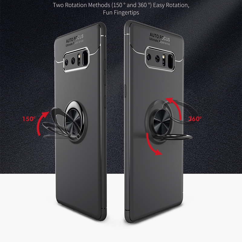 For Samsung Galaxy Note 8 Case Finger Ring Stand Shockproof Soft Cover for Samsung Note 8 SM N950F Note8 Phone Coque 6 3 inch in Half wrapped Cases from Cellphones Telecommunications