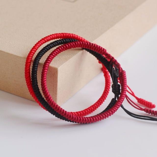 Tale Design 2017 Multi Color Tibetan Buddhist Handmade Knots Lucky Rope Bracelet Size Adjule Same Model