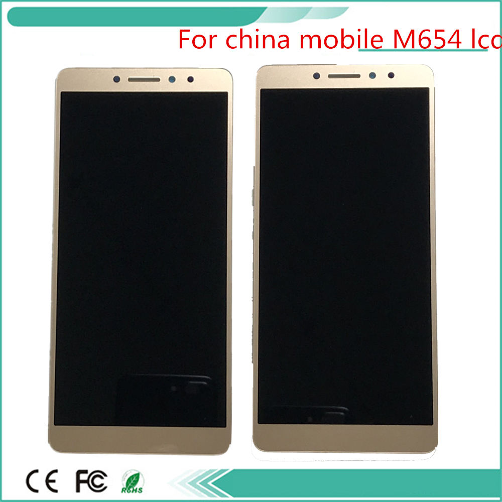 Tested New For china mobile M654 LCD Display Touch Screen Digitizer with For china mobike A5 Full Assembly Replacement+tools