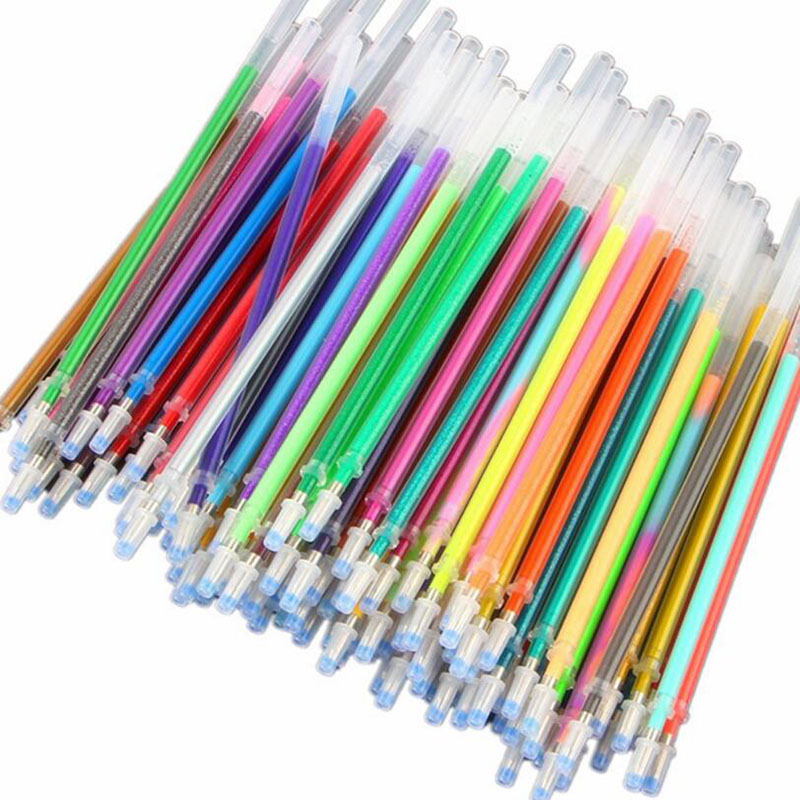 New Flash Refill Color Full Flash Refill Children'S Drawing Office Supplies 12/24/36/48 Colors Creative Glamorous Color Refill