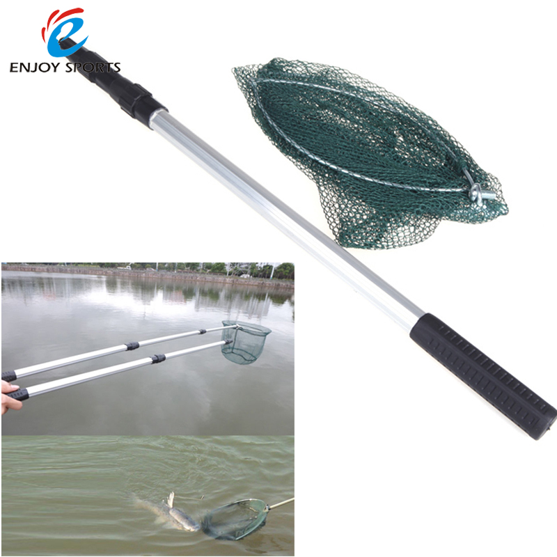 2 in1 fishing net retractable telescopic landing net with for Telescoping fishing net