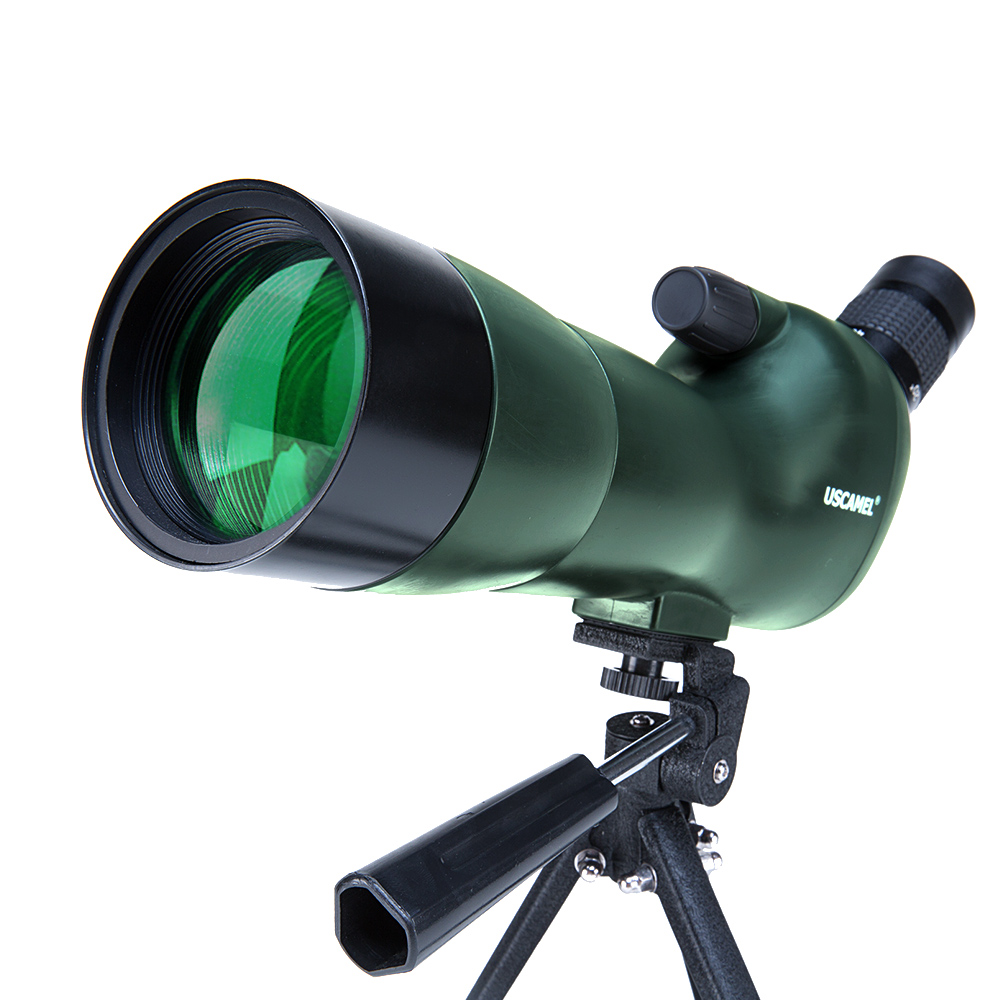 USCAMEL Bird Watching Waterproof Spotting Scope - 20-60x60 Zoom Monocular Telescope - With Tripod - with Camera Photography Ada цена