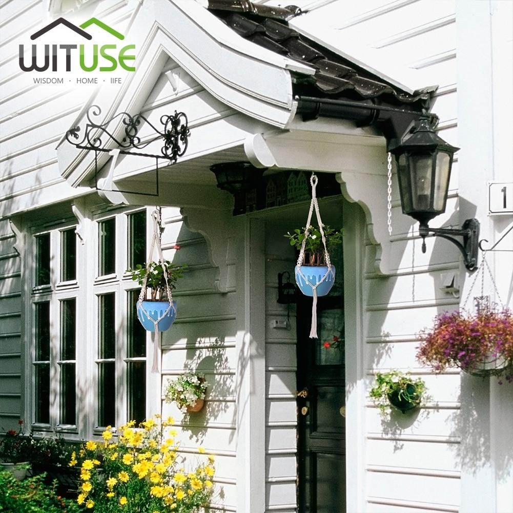 wituse 4 stücke pflanzen aufhänger garten wand haken hängen pflanzen