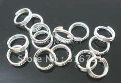 Лидер продаж Прямые продажи Бросился 1000 посеребренные двойные петли открытый прыжок кольца мм 5 мм Диаметр (w00102 X 1) AA