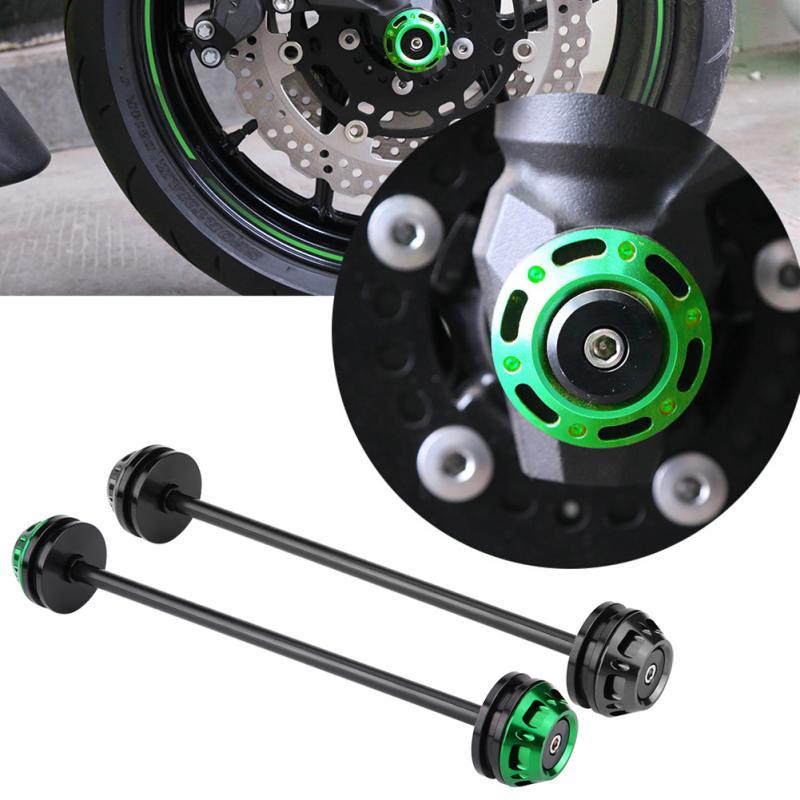 Motorcycle Front Axle Fork Crash Slider Wheel Protector for Kawasaki Z800 2013 2016 Z1000 2014 2017