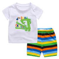 2019 Meninas Pijama Pijama Pijama Infantil Baby Girl Pijamas Conjuntos Infantis De Menina Homewear Sleepwear Conjunto Roupa de Crianças de Verão