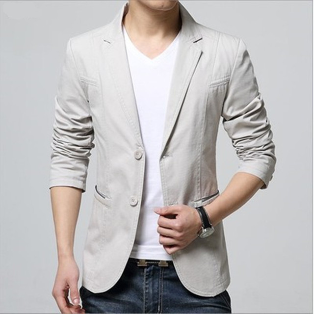 2018 New Arrival Luxury Men Blazer New Spring Fashion Brand High Quality Cotton Slim Fit Men Suit Terno Masculino Blazers Men