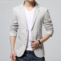 2018 New Arrival Luxury Men Blazer New Spring Fashion Brand High Quality Cotton Slim Fit Men Suit Terno Masculino Blazers Men